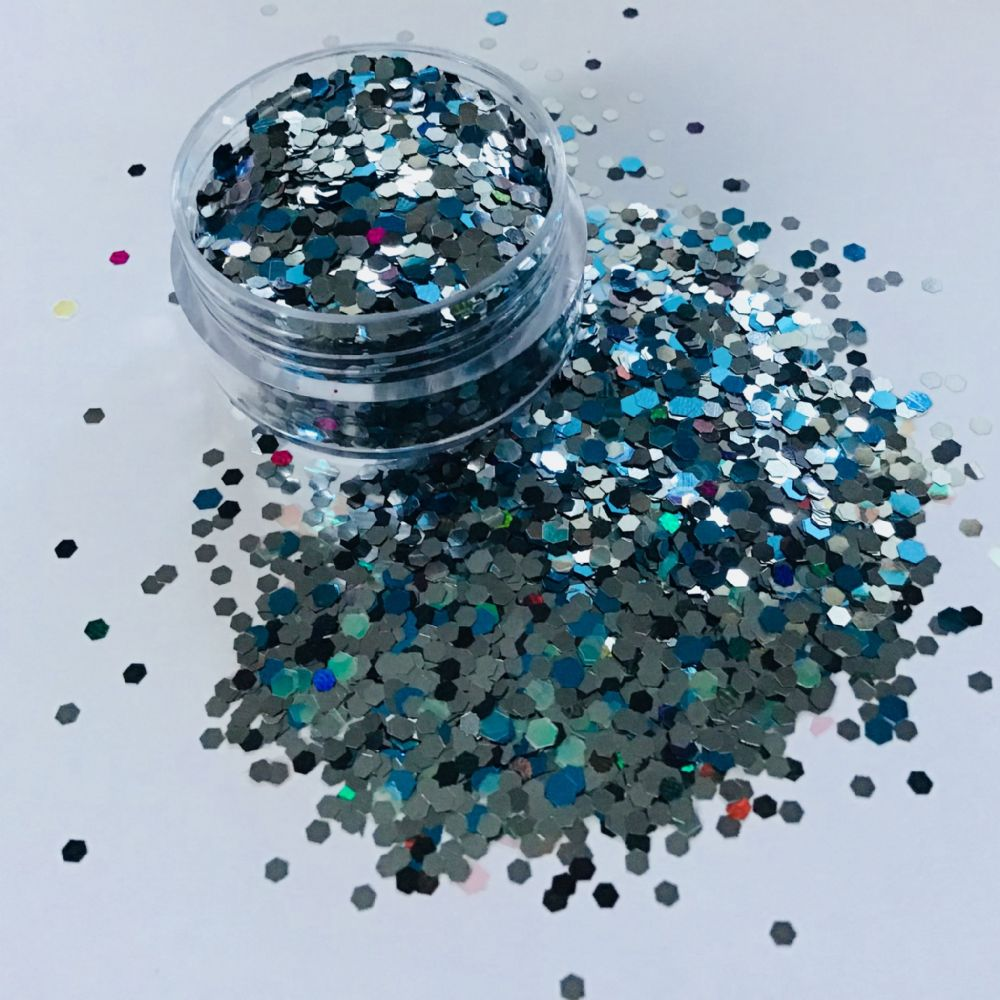 PEWTER SPARKLE GLITTER  POT - 10g